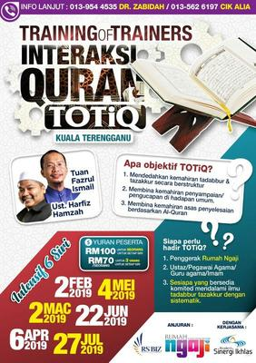 Training Of Trainers Interaksi Quran (TOTIQ)