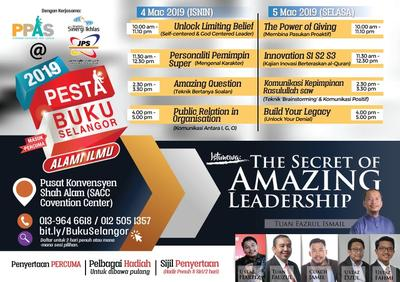 Slot PERCUMA Pesta Buku Selangor 2019 | The  Secret of Amazing Leadership