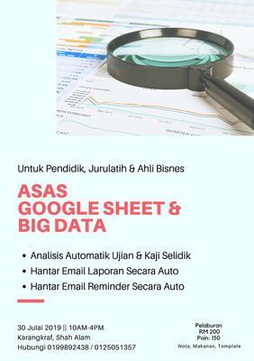 Asas Google Sheet & Big Data