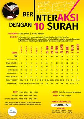 Berinteraksi dengan 10 Surah [Terengganu]