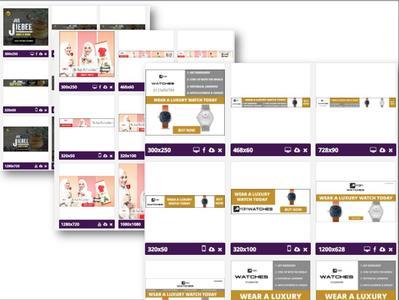 Servis Design 3 Ad Set (50 ++ banner )