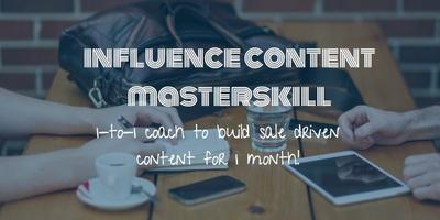 Influence Content MasterSkill Coaching(1 Month Intensive Course Value RM2997)
