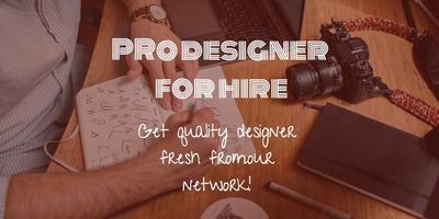 Slick Professional Designer For Hire