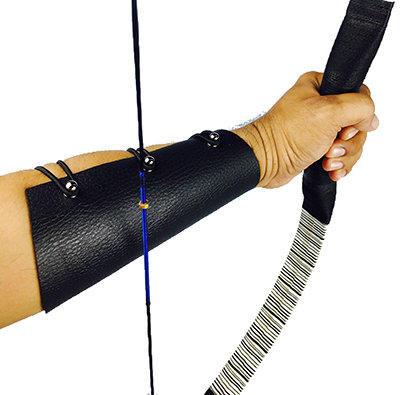 Archery Black Leather Arm Guard RM25
