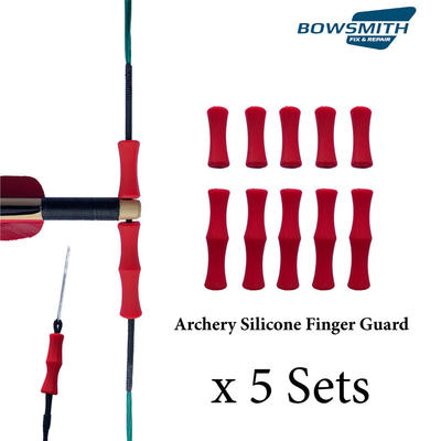 Archery Finger Guard Silicon Protector Arrow Bow String Shooting Finger Tab