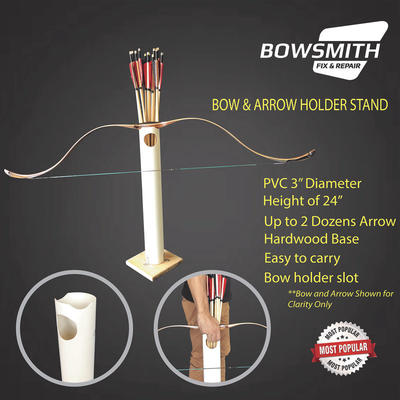 Bow And Arrow Stand Holder 2ft Height Up to 2 Dozens
