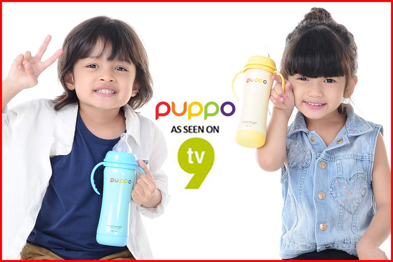 BOTOL SUSU THERMOS STAINLESS STEEL PUPPO