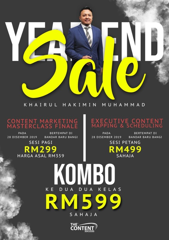 YEAR END SALE! CONTENT MARKETING MASTERCLASS FINALE