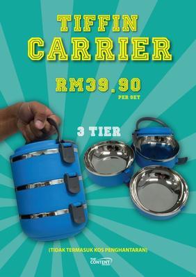 3-Tier Tiffin Carrier - Blue