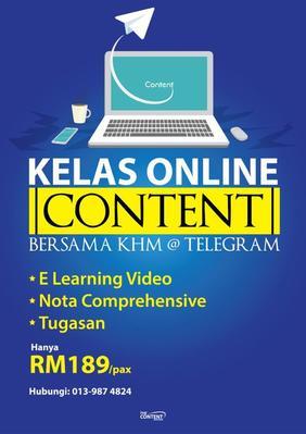 Kelas Online Content @ Telegram 2019