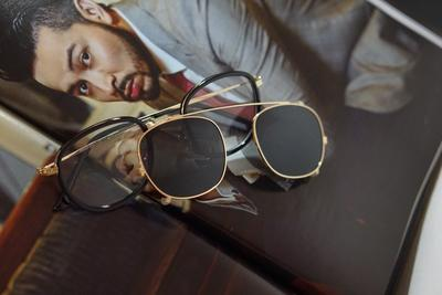 CALZE RETRO STYLE CLIP ON POLARIZED GLASSES