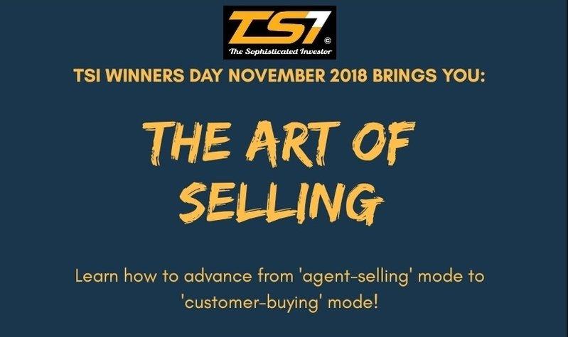 TSI Winners Day Nov 2018 - The Art of Selling