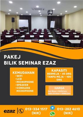Dewan Seminar EZAZ Untuk Disewa