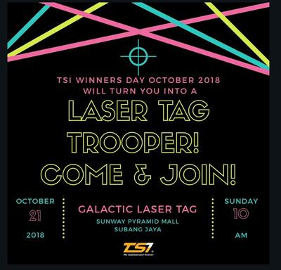 TSI Winners Day October 2018 Special - Laser Tag Troopers, Come & Join!