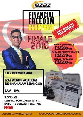 Seminar Kewangan: FINANCIAL FREEDOM BLUEPRINT, RELOADED! FINALE 2018 (8-9 DISEMBER 2018)