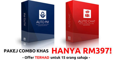 [Tawaran Khas] Pakej Combo AutoPM & AutoChat (Jimat Sebanyak RM397)