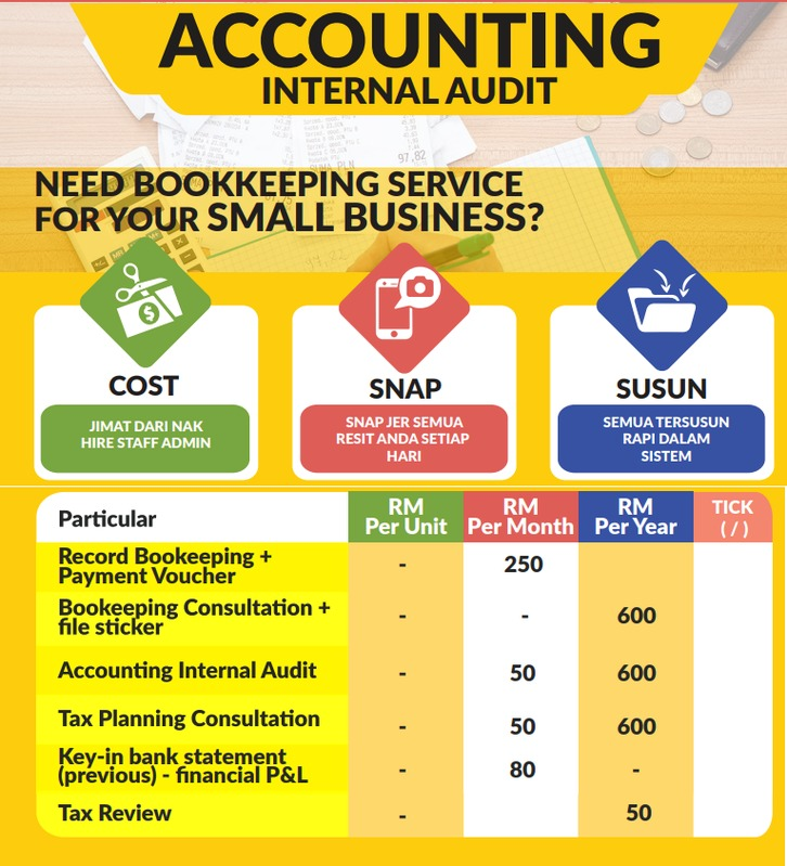 Servis Outsource  Account Department ( Bookeping, Akaunting & Taxplanning )