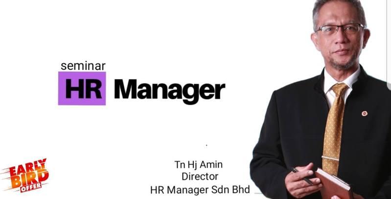 Seminar HR Manager Sabtu 16 Mac 2019