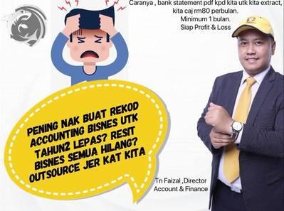Servis  Key In Bank Statement untuk menyediakan Profit & Loss Akaunting