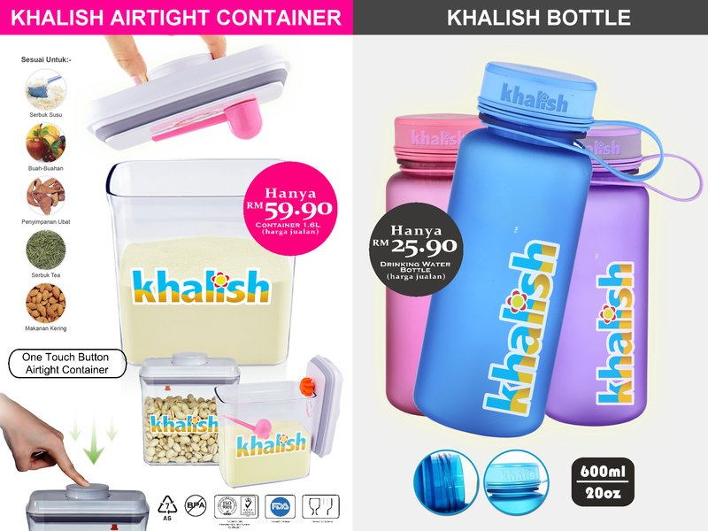 Order Khalish Airtight Container & Bottle
