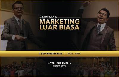 Seminar Marketing Luar Biasa 2 SEPT 2018