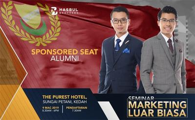 Seminar Marketing Luar Biasa The Purest 9 Mac 2019-SPONSORED ALUMNI