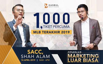 SEMINAR MLB 14 APRIL 2019 SACC - VIP DAN GENERAL