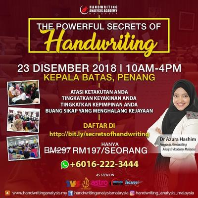 THE POWERFUL SECRETS OF HANDWRITING PENANG