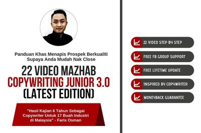 Pakej Video Mazhab Copywriting Junior 3.0