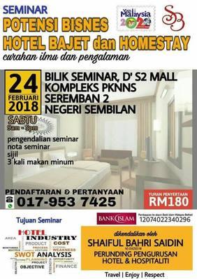 Seminar Potensi Bisnes Hotel Bajet Dan Homestay