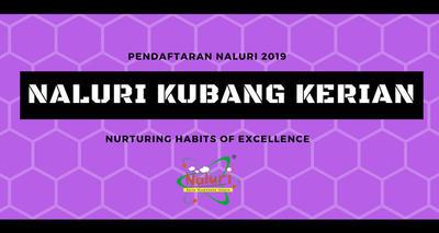 Pendaftaran NALURI Kubang Kerian 2019