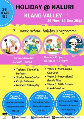 3 Weeks School Holiday @ NALURI (Klang Valley)