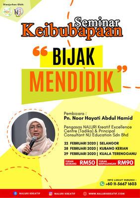"""Parenting Seminar """"Bijak Mendidik"""" Selangor & Kelantan"""