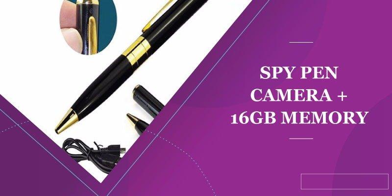 Spy Pen Camera + 16Gb Memory Card