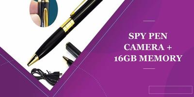 Spy Pen Camera + 16Gb Memory Card