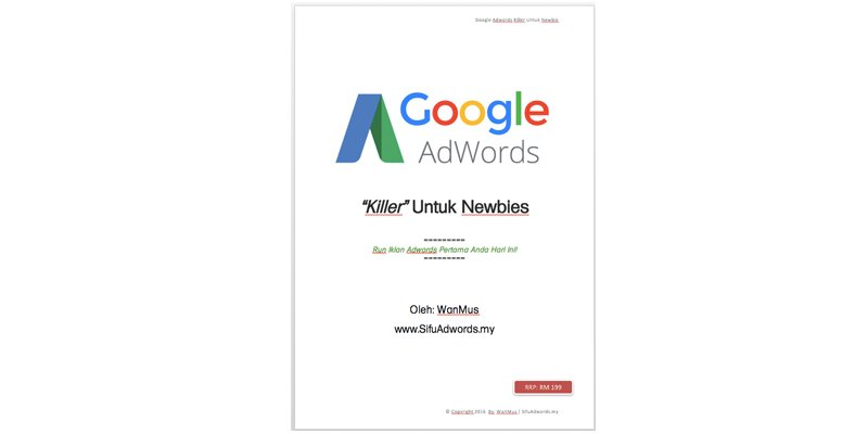 eBook Google Adwords Killer Untuk Newbie
