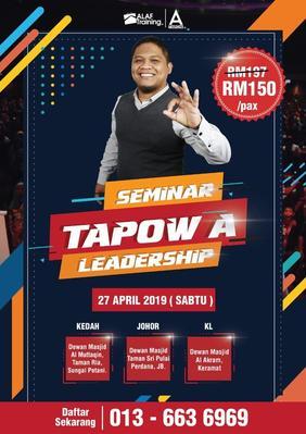 TAPOW A LEADERSHIP - 27 APRIL 2019 (SABTU)