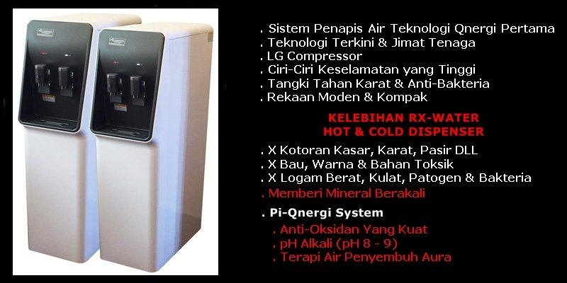 BORANG TEMPAHAN RX-WATER HOT & COLD DISPENSER - FLOOR STAND