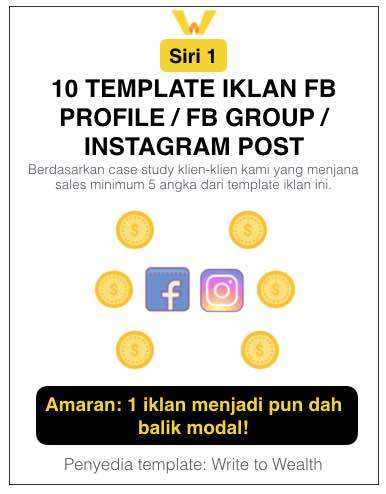 Ebook 10 Template Iklan FB Profile/FB Group/Instagram Post