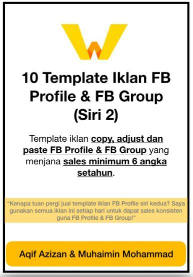 Ebook 10 Template Iklan FB Profile & FB Group (Siri 2)