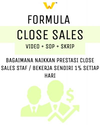 Video Formula Close Sales