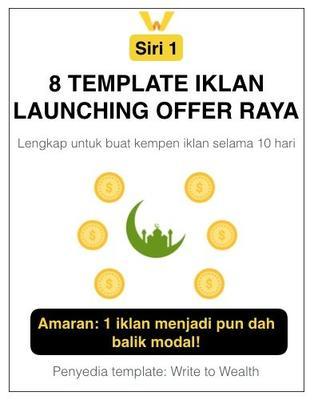 8 Template Iklan Launching Offer Raya