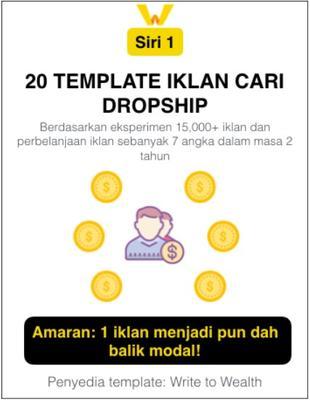 20 Template Iklan Cari Ejen Dropship