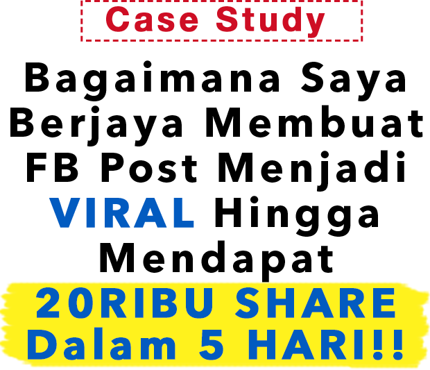 Rahsia FB Post Viral 20 Ribu Share Dalam 5 hari!